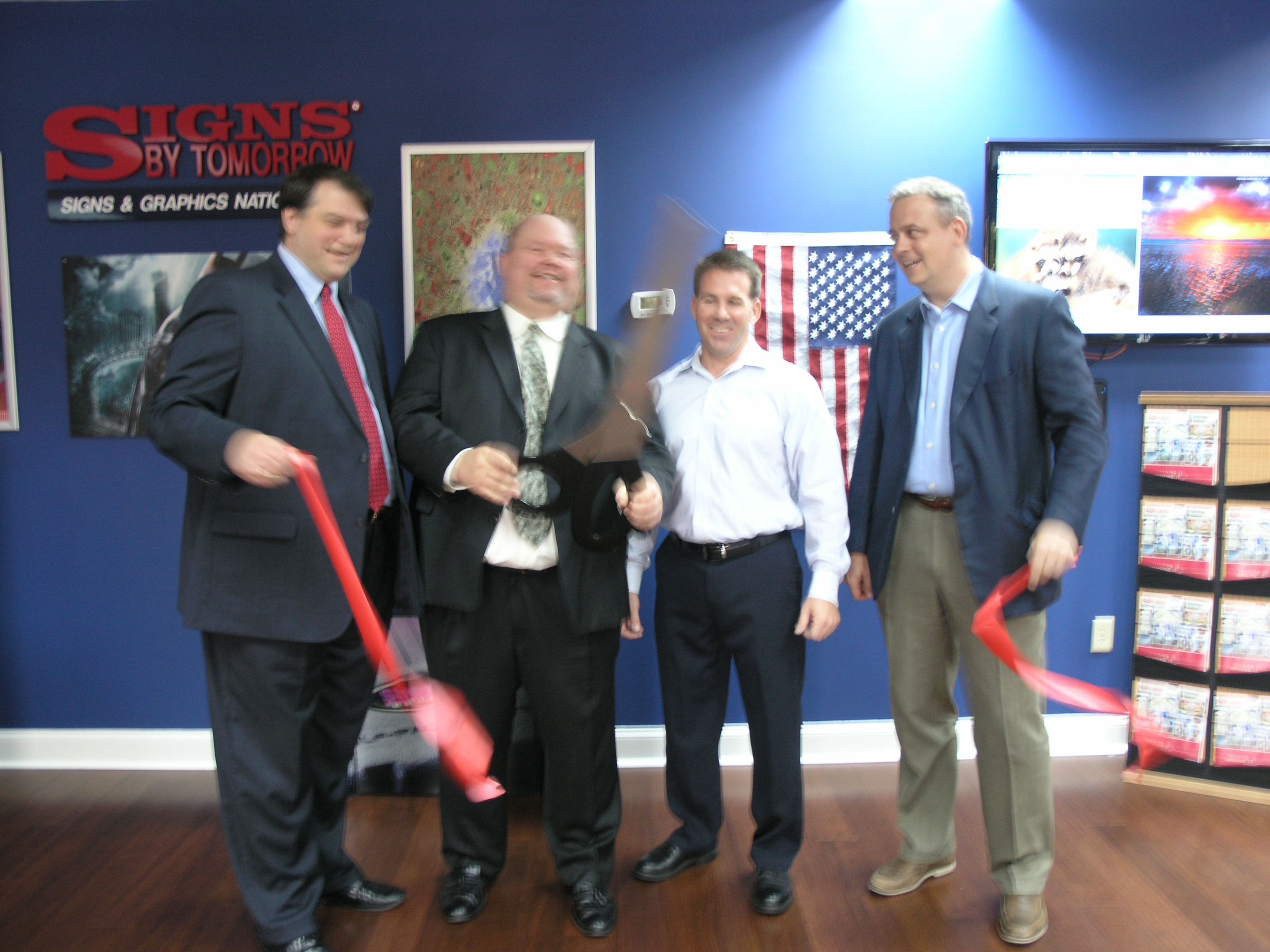 September ribbon cuttings chamber ink