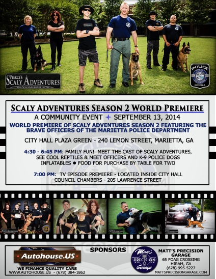 Scaly Adventures Premiere Flyer