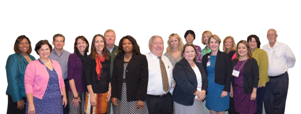 First class to complete and receive the Certificate in Nonprofit Board Governance training series L-R:  Trainer Glenda Y. Hicks, CPA, Pierrette Maillet, Allan Bishop, Jan Galt, Anne Marie Pitts, Bill Foree, Janice Felder, Sam Pierce, Jamila Pope, Nancy Tucker, Brenda Rhodes, Irene Barton, Patricia Torres, Pat Giuliani, Maria Bailey, Cathy Wendholt-McDade, and Gary Kitchen.
