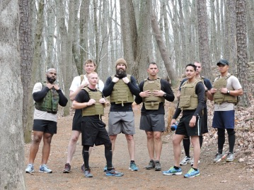 Shepherd's take a break from training to pose for a picture on Kennesaw Mountain.