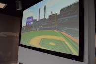 A List Members can test suite seats in the Dale Murphy Theater and take in their virtual view on the big screen.