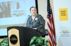 Tamara Grooms, assistant dean, delivers the college's summer graduation speech at the KSU Center on June 16.