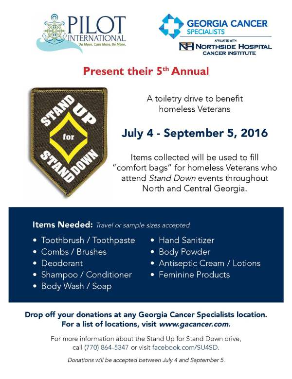 GCS Stand Down 2016 Flyer