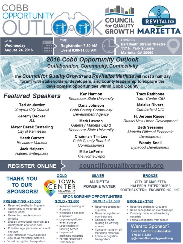 2016 Cobb OO Sponsorship Flyer