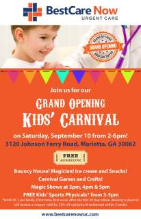 BestCare Now Kids Carnival Flyer 8 10 16